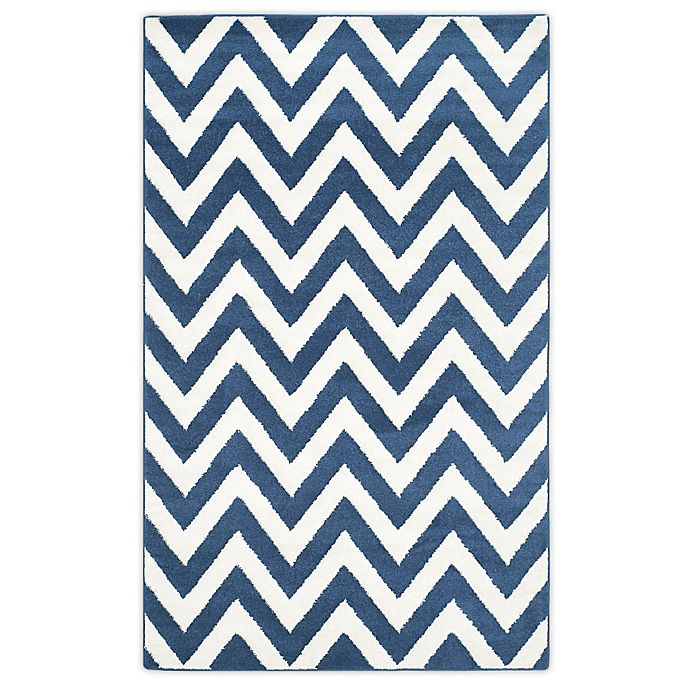 Alternate image 1 for Safavieh Amherst 6-Foot x 9-Foot Chevy Area Rug in Navy