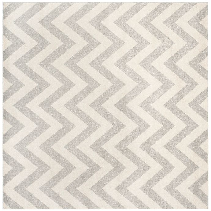 Alternate image 1 for Safavieh Amherst 9-Foot x 9-Foot Chevy Area Rug in Light Grey