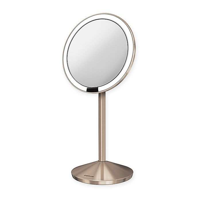 Alternate image 1 for simplehuman® 5-inch Sensor Mirror in Rose Gold