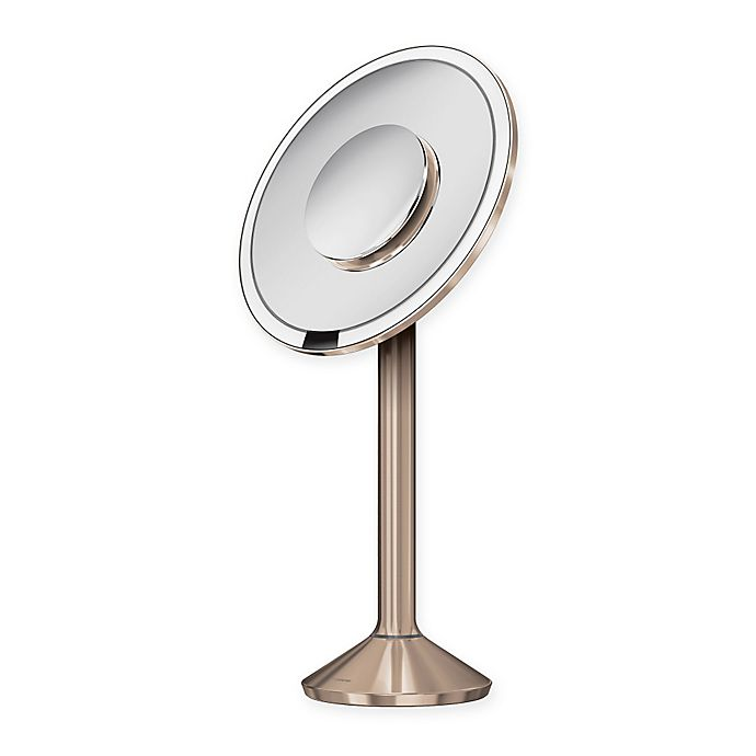 Simplehuman 174 8 Inch Sensor Mirror Pro In Rose Gold Bed
