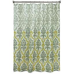 Bacova Portico Damask Shower Curtain in Yellow/Grey