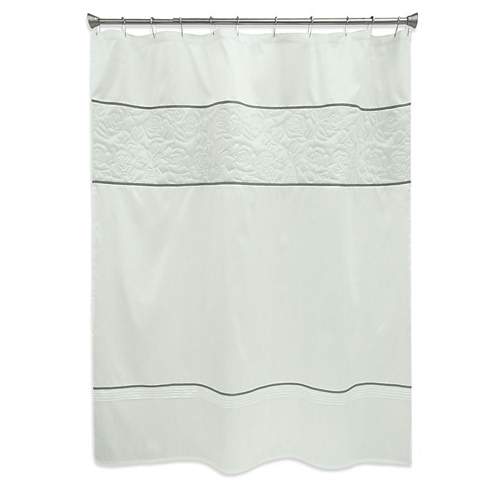 Alternate image 1 for Bacova Nellie Shower Curtain in White