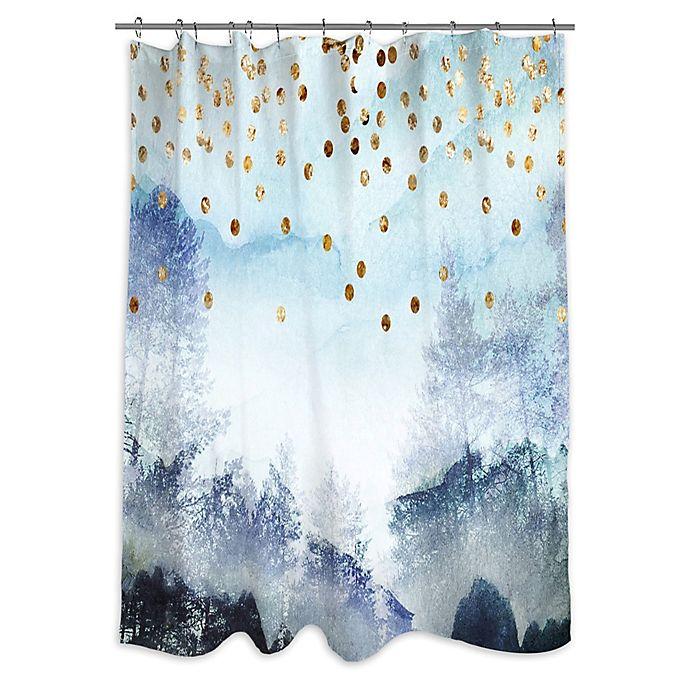 Oliver Gal Artist Co Summer Mist Collage Shower Curtain