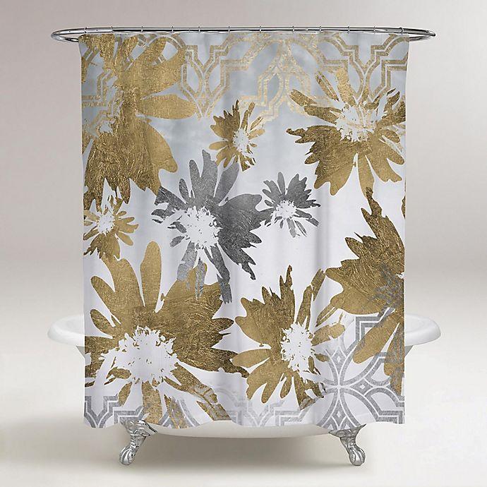 Oliver Gal Artist Co Golden Garden Shower Curtain