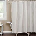 Saturday Knight Hopscotch Shower Curtain in Cream