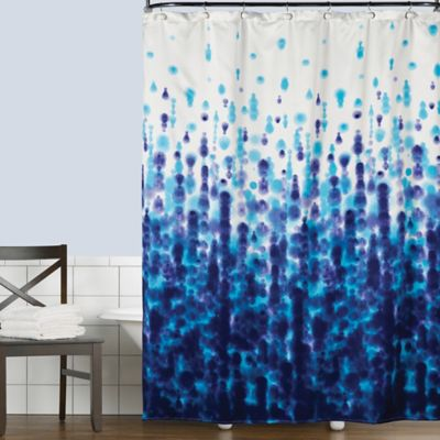 Saturday Knight Mist Shower Curtain In Blue Bed Bath