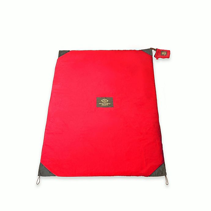 Alternate image 1 for Monkey Mat Portable Multi-Purpose 3-Foot x 5-Foot Mat in Compact Pouch in Red Coral