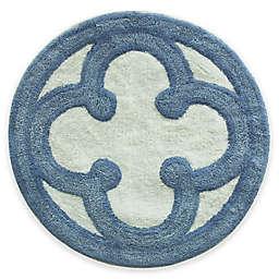 Bacova Merry May 26-Inch Round Bath Rug in Blue/Ivy