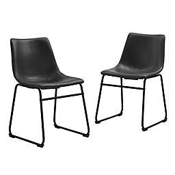 Forest Gate Faux Leather Dining Chairs (Set of 2)