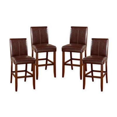 American Heritage Carla Stool Collection In Brown Set Of