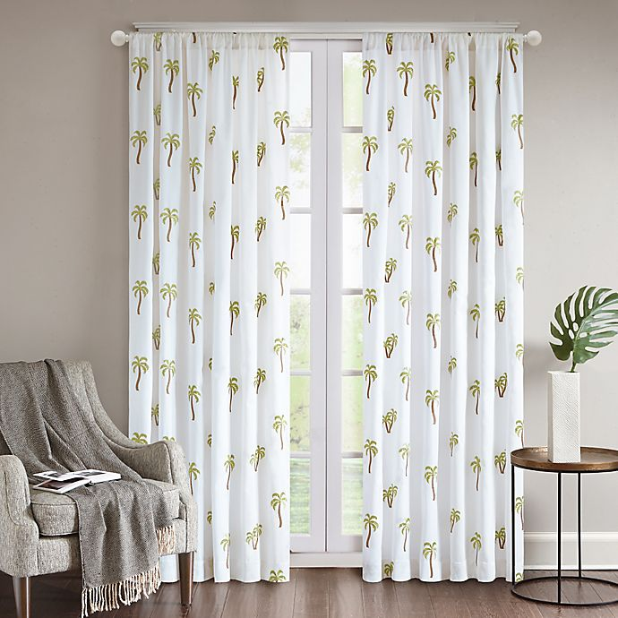 Alternate image 1 for Regency Heights® Rico Palm Rod Pocket Window Curtain Panel in White