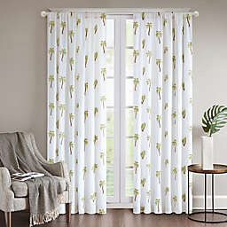 Regency Heights® Rico Palm Rod Pocket Window Curtain Panel in White