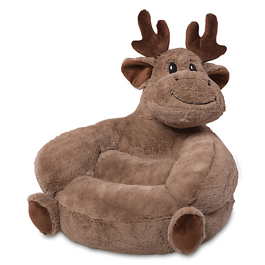 Alternate image 1 for Trend Lab® Plush Moose Chair in Brown