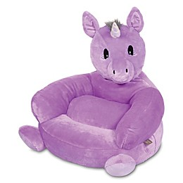 Trend Lab® Plush Unicorn Chair in Purple