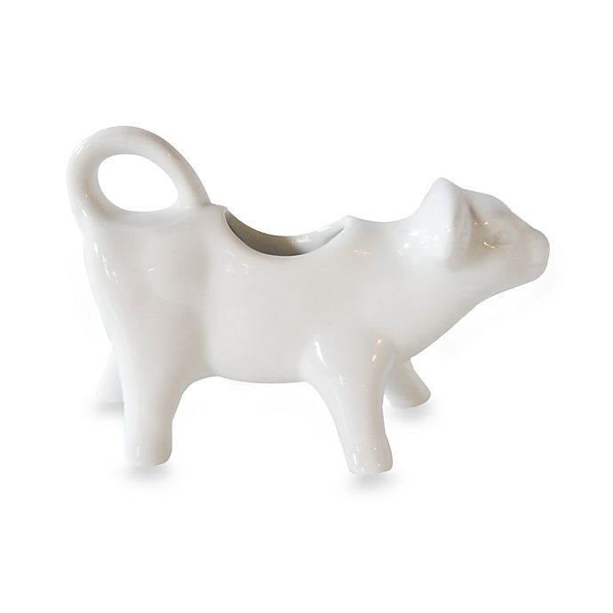 Alternate image 1 for Everyday White by Fitz and Floyd® White Cow Creamer