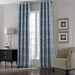 Valeron Lustre Grommet Top 84-Inch Window Curtain Panel in Blue