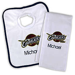 Designs by Chad and Jake NBA Cleveland Cavaliers Personalized Bib and Burb Cloth Set