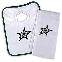 Designs by Chad and Jake NHL Dallas Stars Personalized Bib and Burb Cloth Set