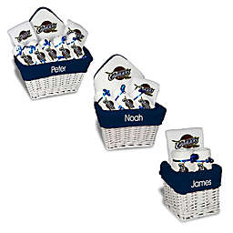 Designs by Chad and Jake NBA Personalized Cleveland Cavaliers Gift Basket in White