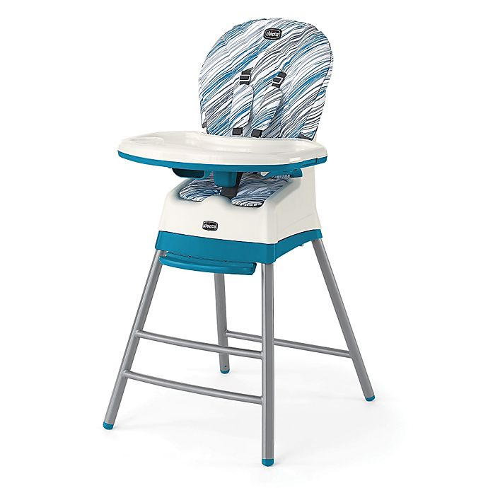 Alternate image 1 for Chicco® Stack™ 3-in-1 High Chair in Blue/White