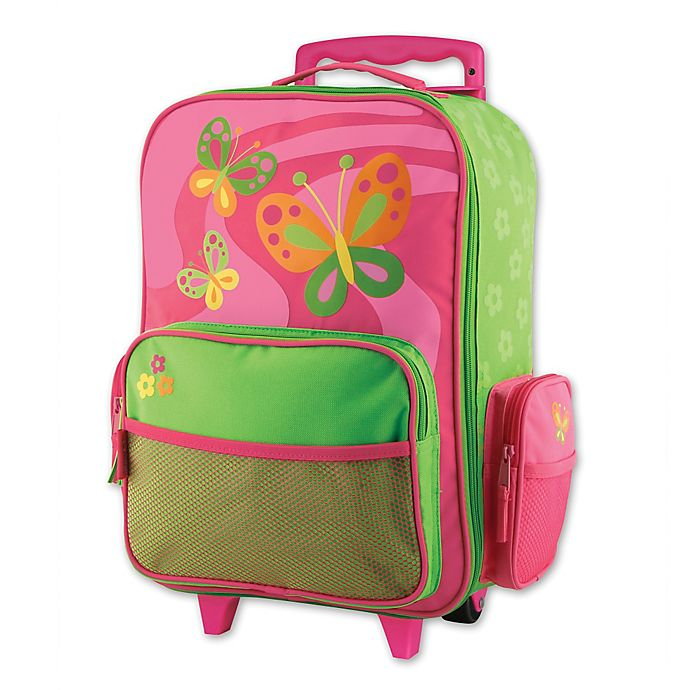 Alternate image 1 for Stephen Joseph® Butterfly Rolling Luggage in Pink