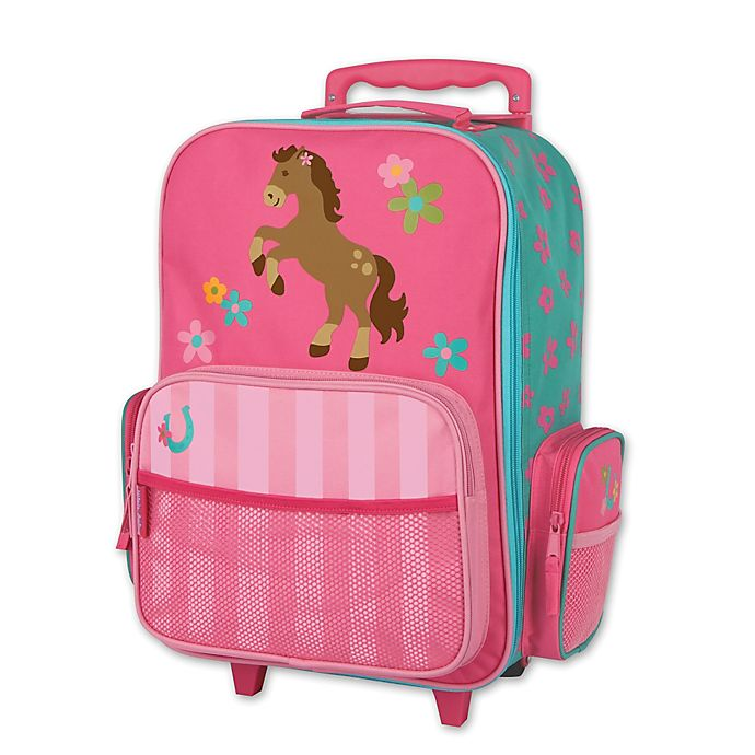 Alternate image 1 for Stephen Joseph® Horse Rolling Luggage in Pink
