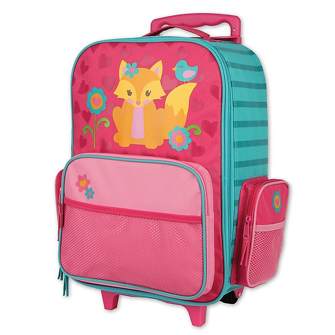 Alternate image 1 for Stephen Joseph® Fox Rolling Luggage in Pink