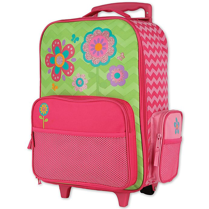 Alternate image 1 for Stephen Joseph® Flower Rolling Luggage in Pink