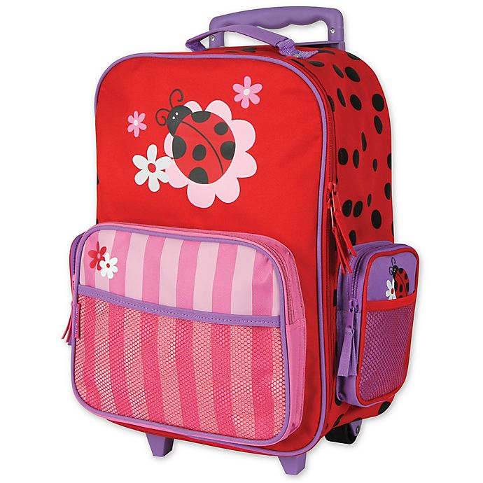 Alternate image 1 for Stephen Joseph® Ladybug Rolling Luggage in Red