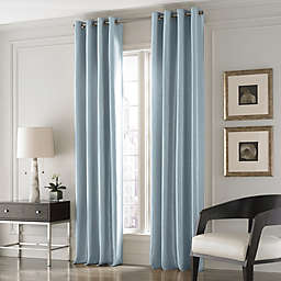 Valeron Lustre Solid 63-Inch Window Curtain Panel in Blue