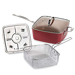 Red Copper™ Nonstick 5-Piece Deep 10-Inch Square Pan Set