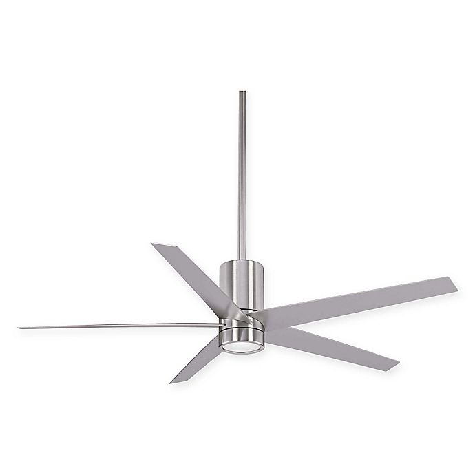 Alternate image 1 for Minka-Aire® Symbio 56-Inch Ceiling Fan in Brushed Nickel Finish with Remote Control