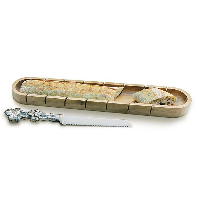 Alternate image 1 for Arthur Court Designs Grape Aluminum Baguette Board with Bread Knife