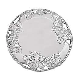 Arthur Court Designs Grape Round Aluminum Plate