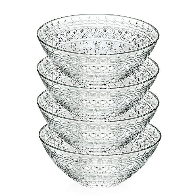 Alternate image 1 for Lorren Home Trends Medici 6.5-Inch Crystal Soup Bowls (Set of 4)