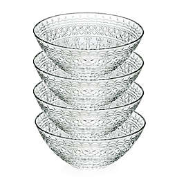 Lorren Home Trends Medici 6.5-Inch Crystal Soup Bowls (Set of 4)