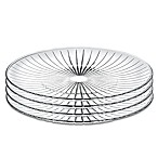 Lorren Home Trends Sunbeam 10-Inch Crystal Dinner Plates (Set of 4)