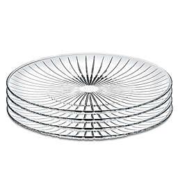 Lorren Home Trends Sunbeam 10-Inch Crystal Dinner Plates (Set of 4)