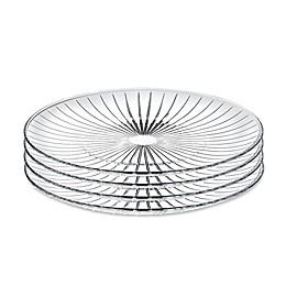 Lorren Home Trends Sunbeam 7-Inch Crystal Salad Plates (Set of 4)