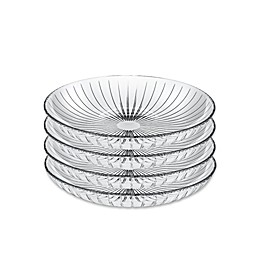 Lorren Home Trends Sunbeam 8.5-Inch Crystal Bowls (Set of 4)