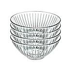 Lorren Home Trends Sunbeam 6.5-Inch Crystal Soup Bowls (Set of 4)