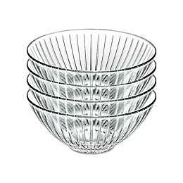 Lorren Home Trends Sunbeam 6.5-Inch Crystal Soup Bowls (Set of 4)