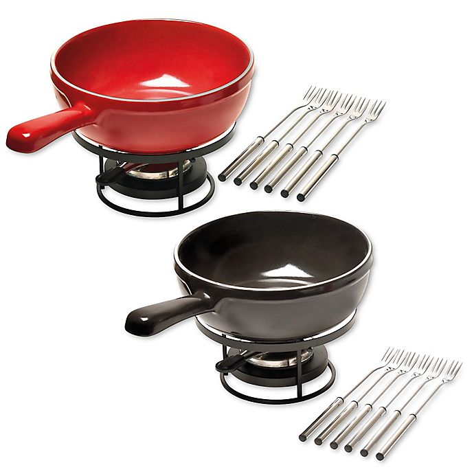 Alternate image 1 for Emile Henry 8-Piece Fondue Set