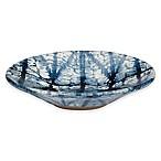 Shibori Geometric Soap Dish in Indigo