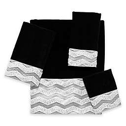 Avanti Chevron Galaxy Hand Towel in Black