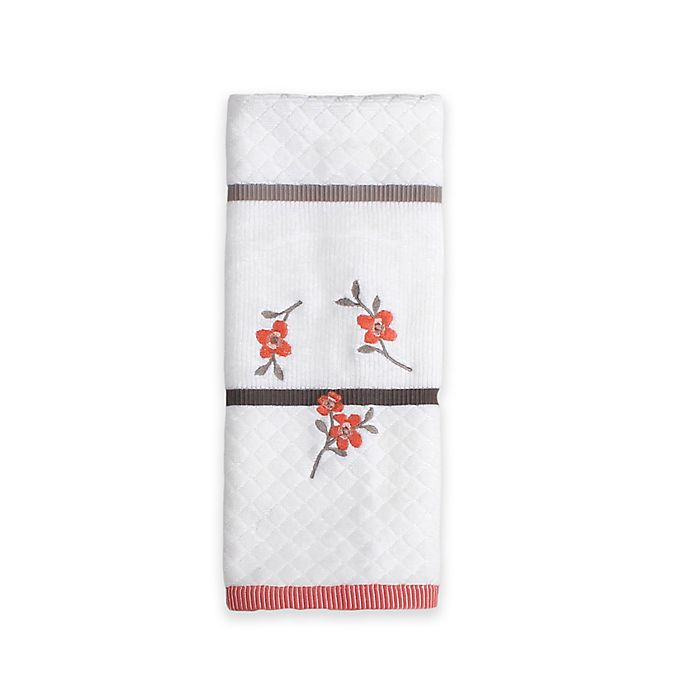Alternate image 1 for Saturday Knight Coral Garden Hand Towel in Ivory