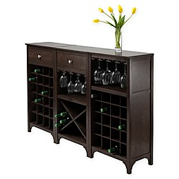 Winsome Trading Ancona Wine Cabinet Collection