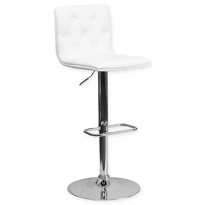 Alternate image 1 for Flash Furniture Tufted Vinyl Adjustable Height Bar Stool