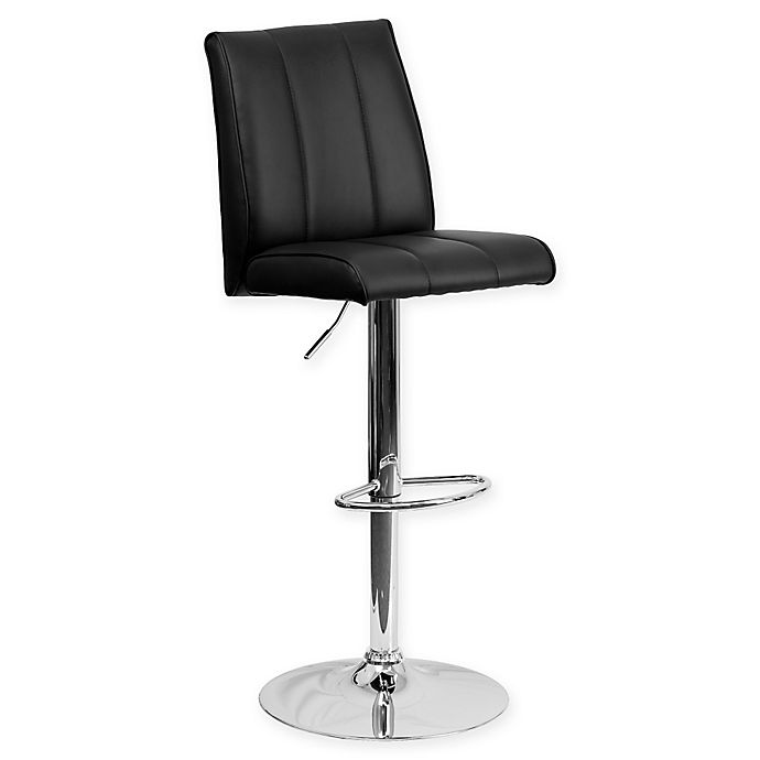 Alternate image 1 for Flash Furniture Contemporary Vinyl Bar Stool in Black