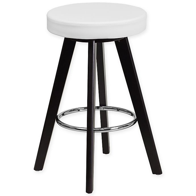 Alternate image 1 for Flash Furniture Trenton 25-Inch Counter Stool in Cappuccino/White